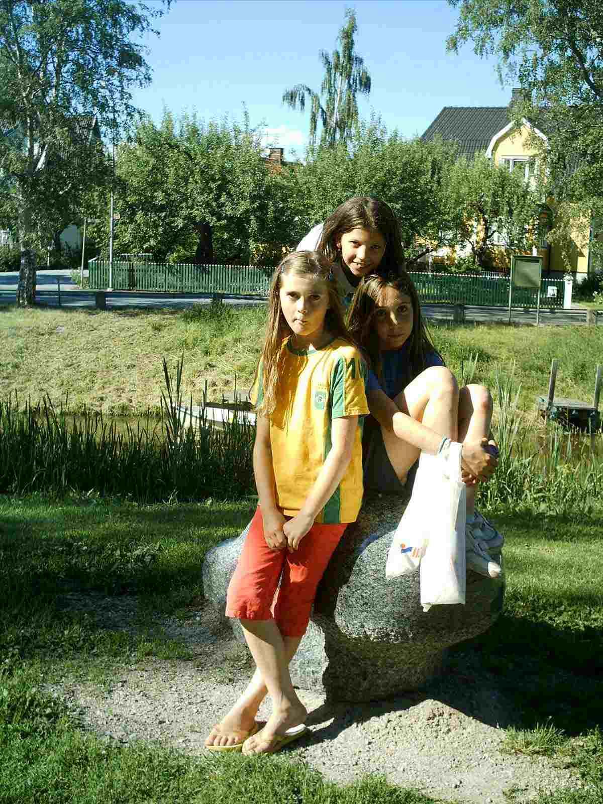 Amb la meva amiga Astrid a Örebro, Suècia